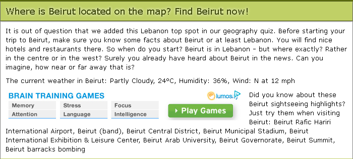 The Map Game - Beirut