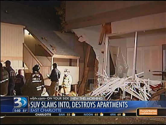 Driver plows into apartment complex turning the area into Beirut