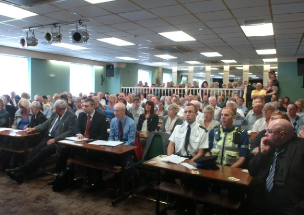 Hoteliers held a public meeting at the Stanley Road Working Mens Club in Blackpool