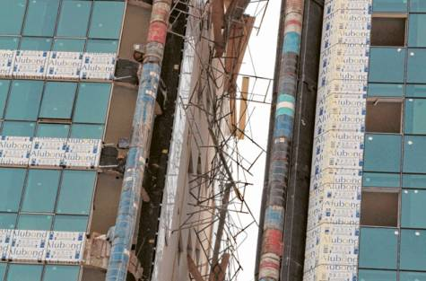 Flying Scaffolding Planks Leaves Beirut in its Wake