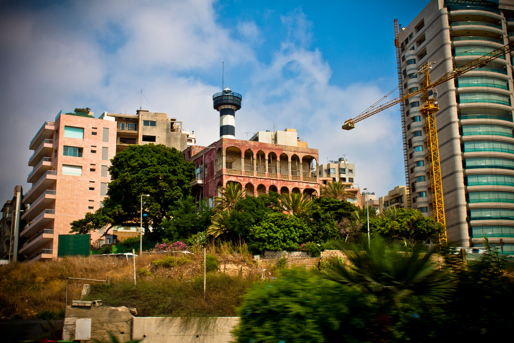 Picture of an old house near the Luna Park in Beirut.