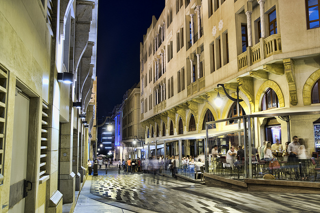 Wandering through the streets of downtown Beirut.