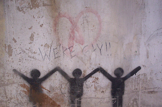 We're Gay - Graffiti on Hamra Wall