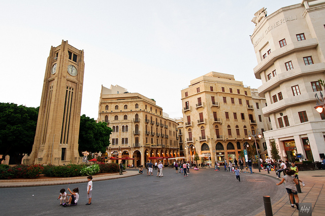 This is apparently how the center of Scunthorpe looks like. Photo of downtown Beirut.