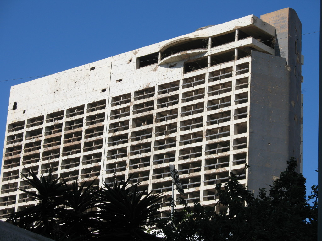 The former Holiday Inn hotel in Beirut.