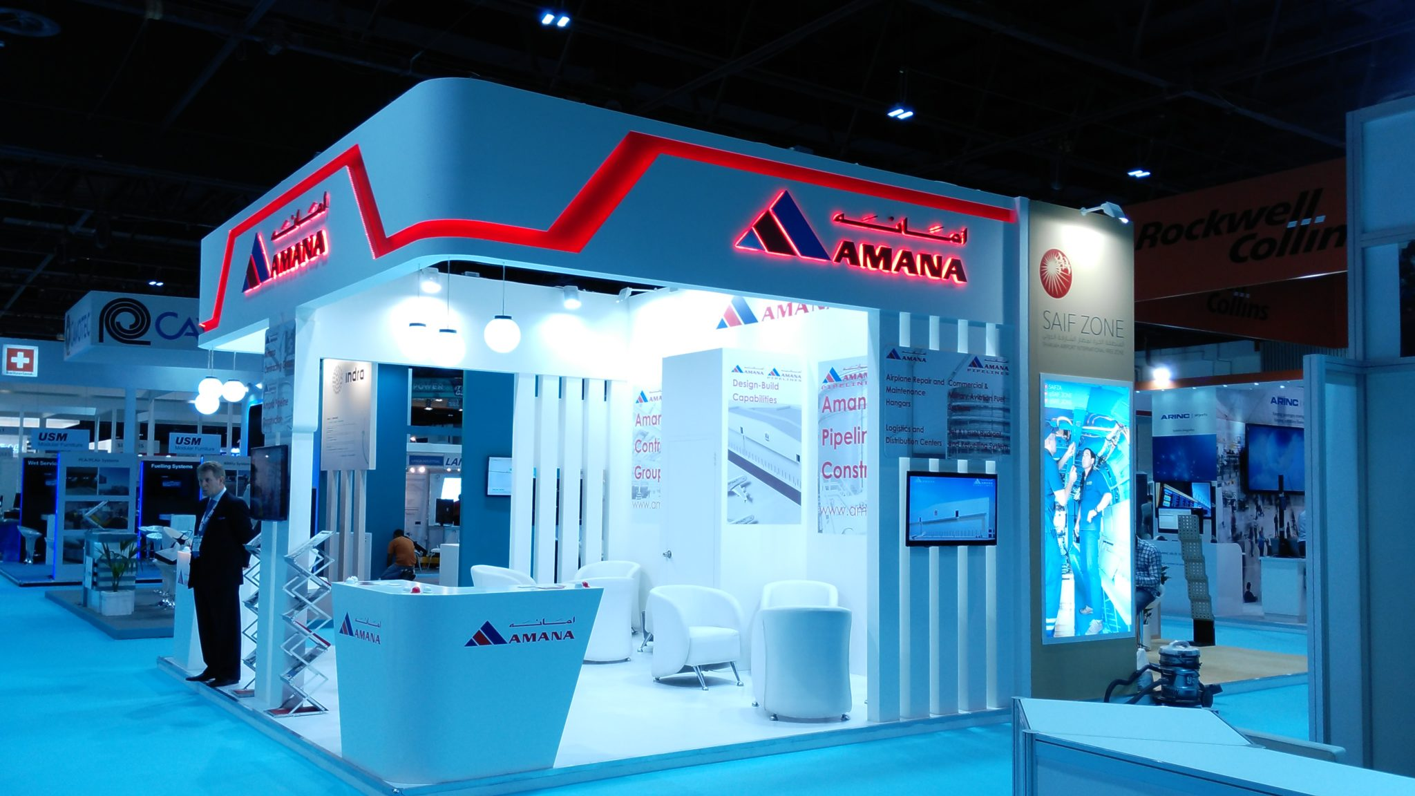 Amana Stand at Airport Show