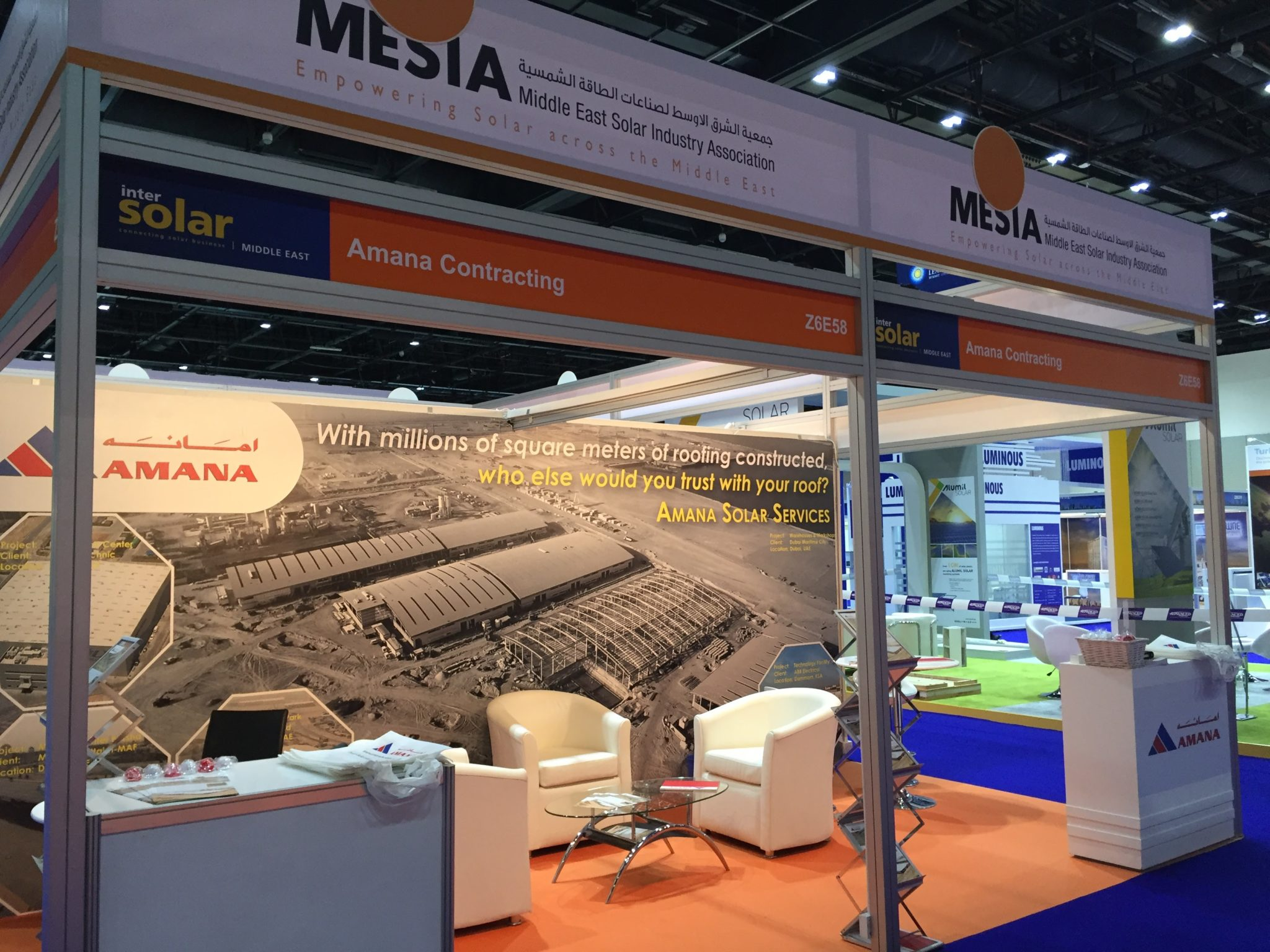 Amana Stand at Intersolar Middle East
