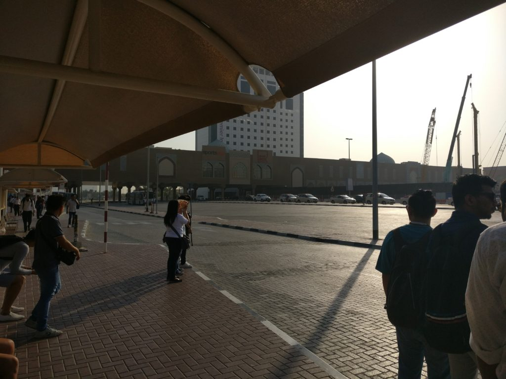 Shaded Bus Stop outside Ibn Battuta Metro Station