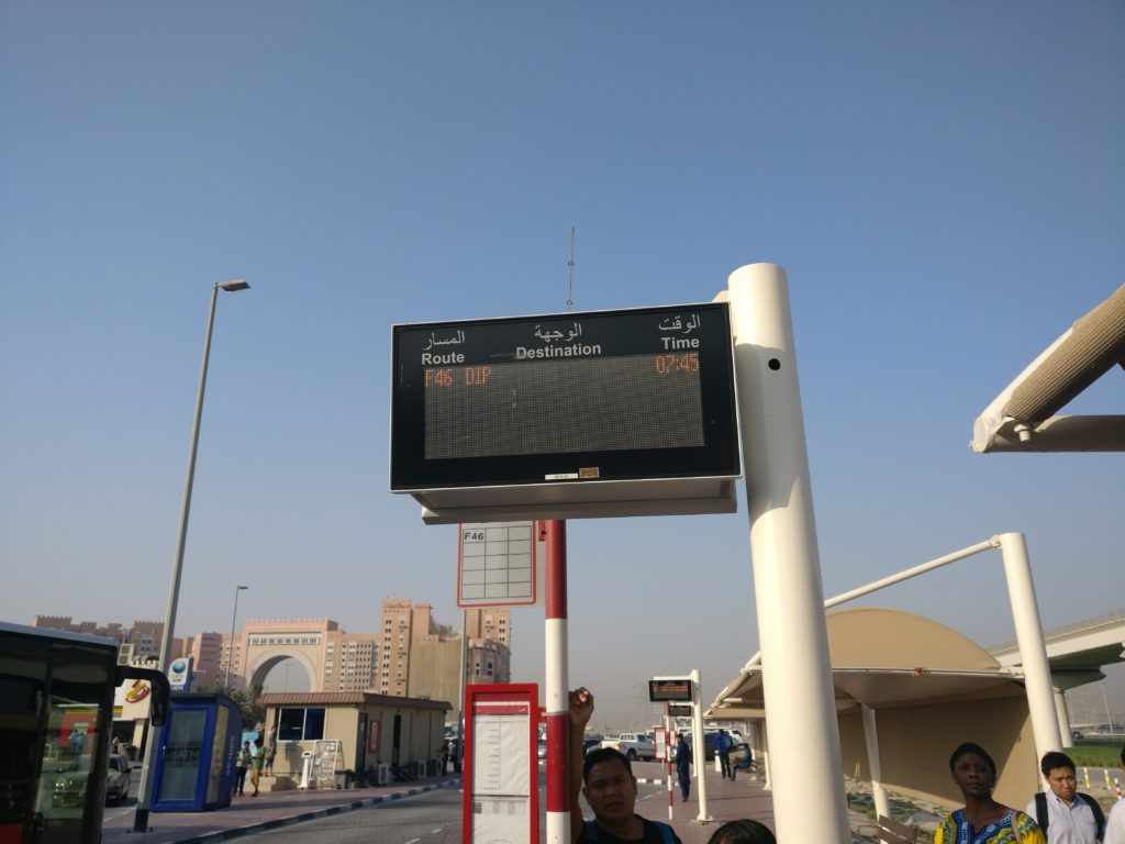 Electronic Bus Signboard at Ibn Battuta